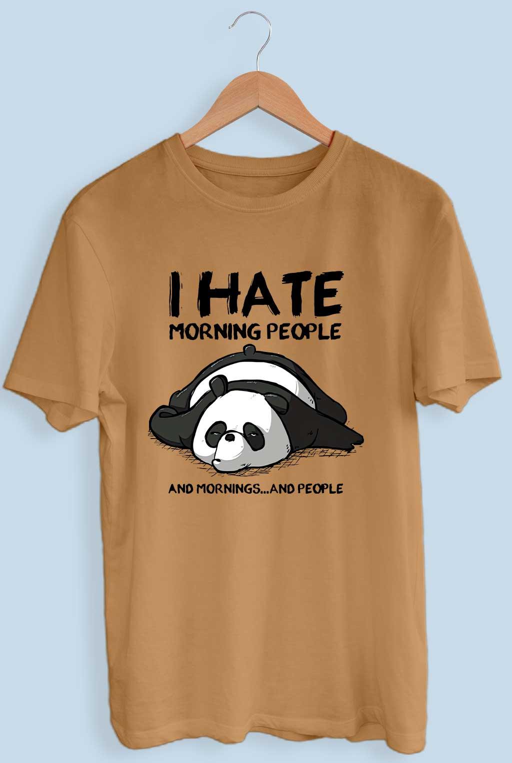 I Hate Morning People Panda T-Shirt For Men