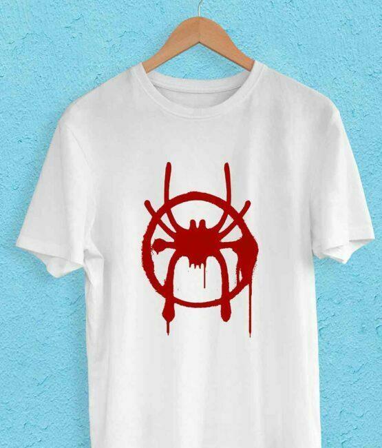Spiderman Red Printed Logo T-Shirt For Men