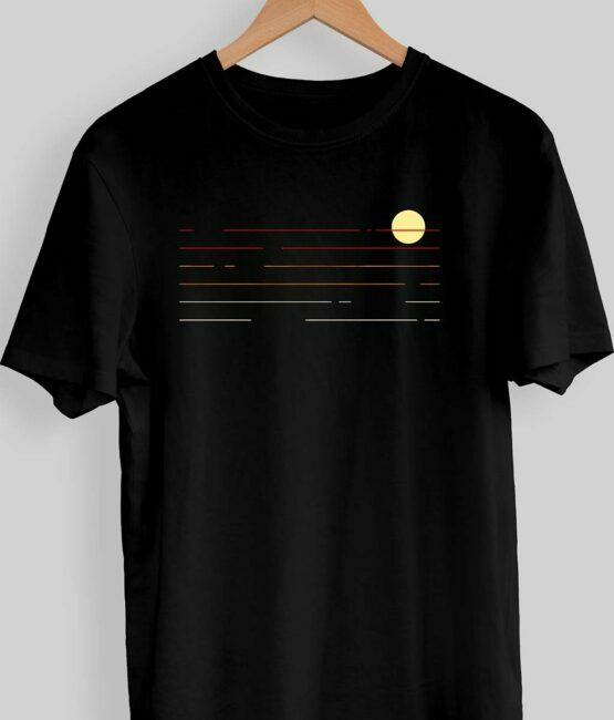 Sunset Graphic T-Shirt For Men